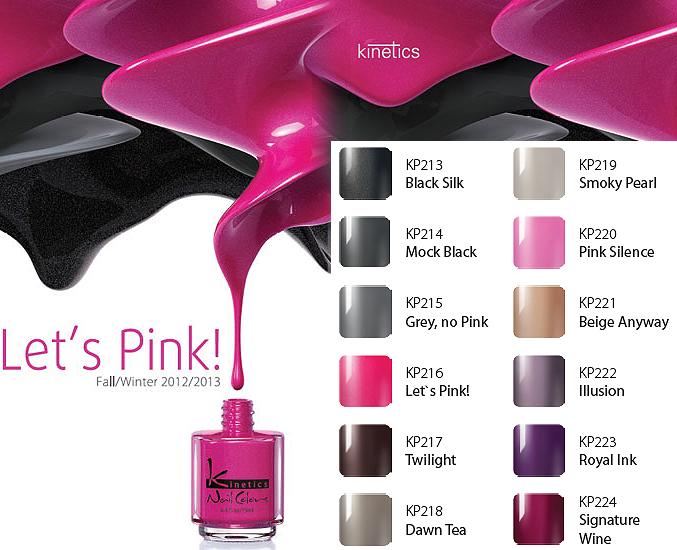 Colecção Kinetics Let's Pink para o Outono/Inverno 2012-2013