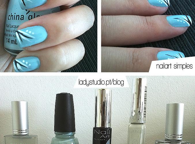 Como estão as minhas unhas hoje: China Glaze Kinetic Candy + Nailart