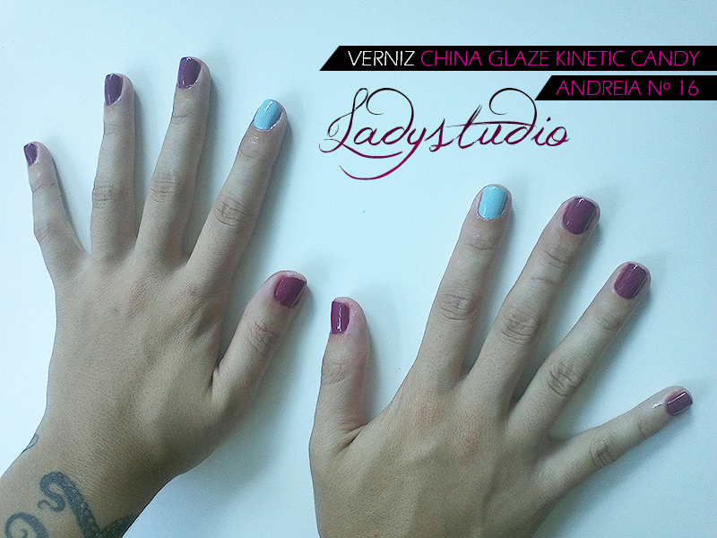 Verniz China Glaze Kinetic Candy e Andreia nº 16