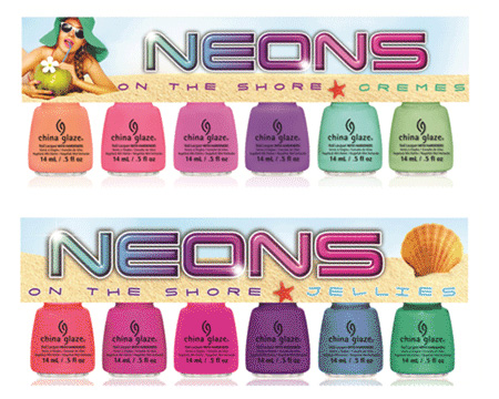 Já a pensar no verão de 2013… China Glaze Summer 2013 Neons on the Shore