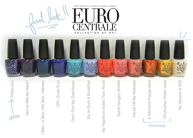 OPI já anunciou a colecção para a primavera/verão de 2013! OPI Euro Centrale