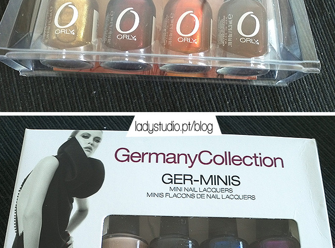 Orly Fired Up minis e OPI Germany Collection minis