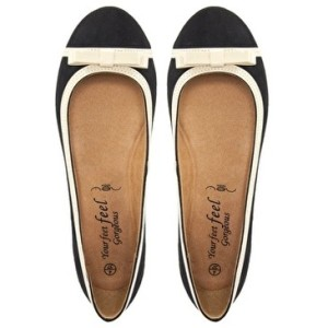 New Look Wide Fit King Bow Ballet Flats