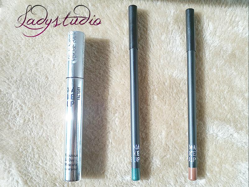 Perfumes & Companhia MAKE UP FACTORY Fabulous All Day Mascara Waterproof , Kajal Definer 19 Bahama Brown Kajal Definer 28 Petrol Blue