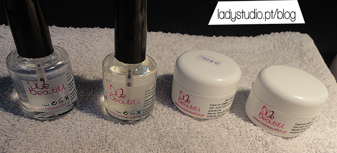 Produtos da BeBeautiful - Secante, Primer, Gel Base e Gel Strong