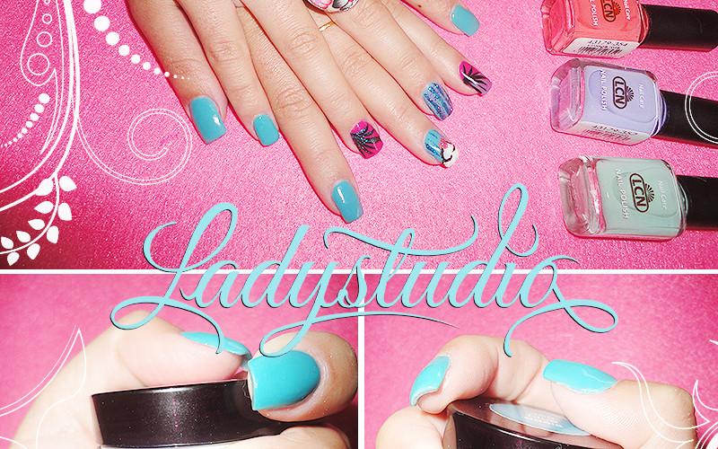 Gel de cor da LCN – Blue Oasis 359 e Pink Pepper 360