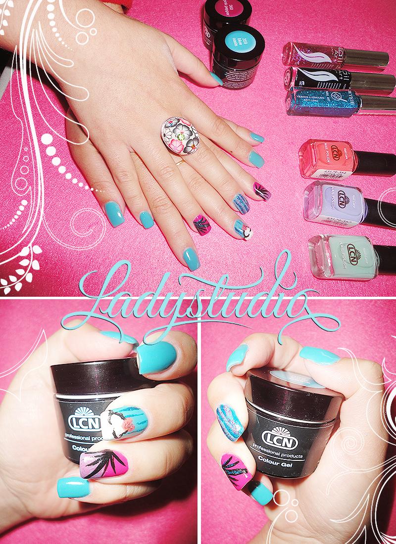 LCN Blue Oasis 359 Gel LCN Pink Pepper 360 Gel