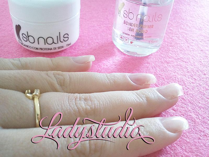 SB Nails T3 orgânico com proteina de seda e SB Nails Bonder/Primer sem ácido