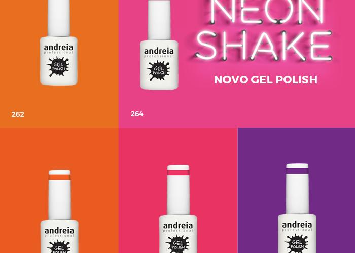 Novas Cores verniz gel Neon Andreia 2015