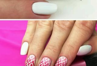 Inspiração de manicure para dia dos namorados