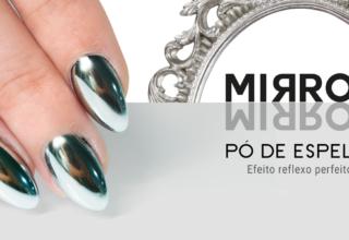 Efeito pó de espelho da Nails21