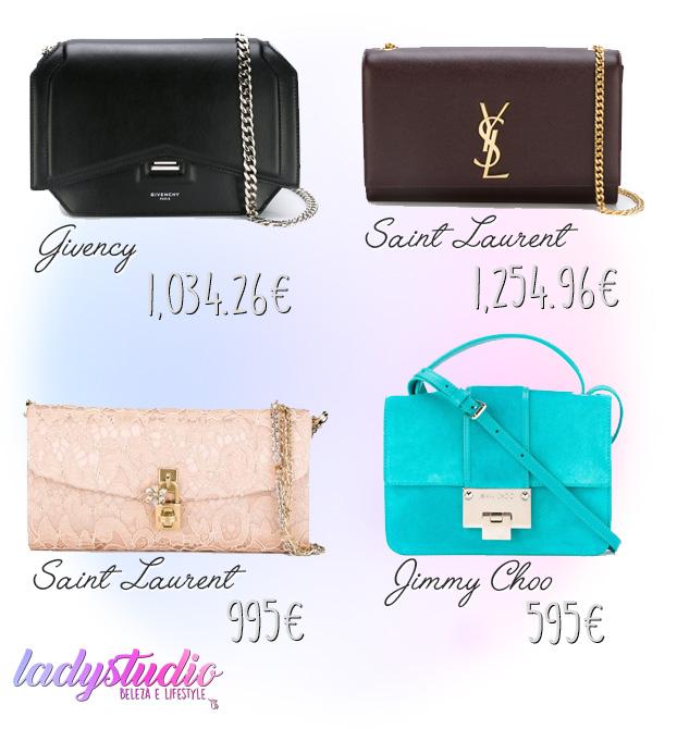 mala Givenchy mala Saint Laurent mala Dolce & Gabbana mala Jimmy Choo nova coleccção 2016 verão